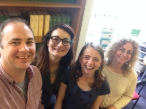 Will Gibson, Caroline Pelletier, Fiona Stevenson and Vasiliki Chrysikou - the University College, London research team (Sophie Park not pictured)